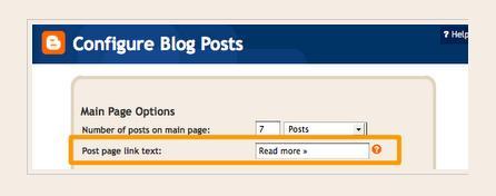 cara buat readmore di blogspot