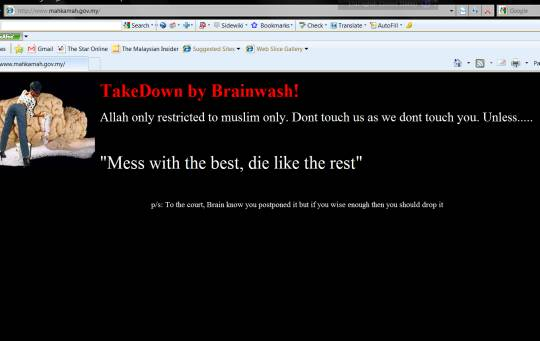 Laman web Badan Kehakiman Malaysia digodam