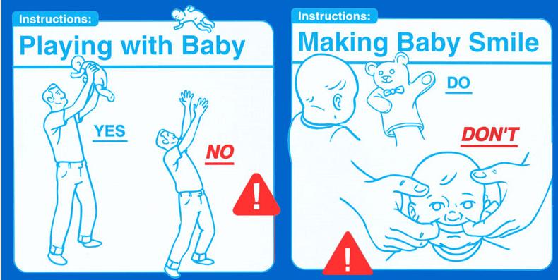 Gambar Panduan Menjaga Bayi
