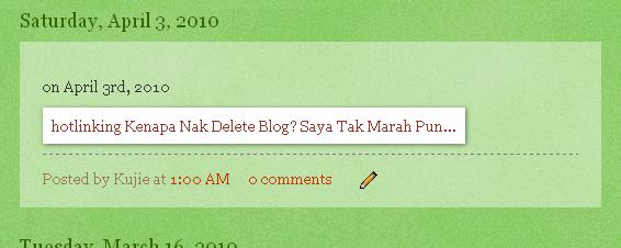 Kenapa Nak Delete Blog?  Saya Tak Marah Pun…