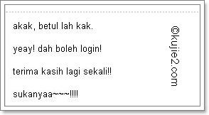 Tukar Usernama Login Blogspot