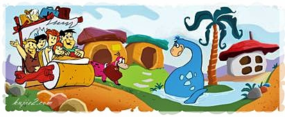Google Doodle The Flintstones – Kenangan Hitam Putih
