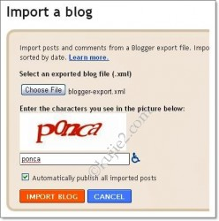 Cara Import Blog WordPress Ke Blogspot
