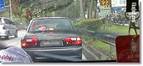 Hampir Kemalangan Di Persimpangan Lebuhraya Sprint