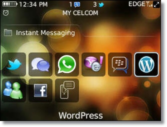 cara install application wordpress for blackberry