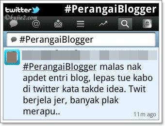 perangai blogger