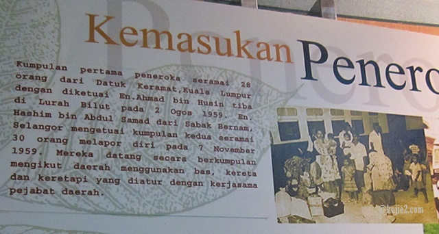 sejarah kemasukkan peneroka Muzium Felda Lurah Bilut Rakam Kronologi Awal Peneroka