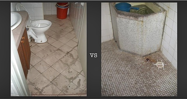 lantai jubin bilik air rosak