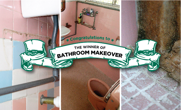pemenang bathroom  makeover mml