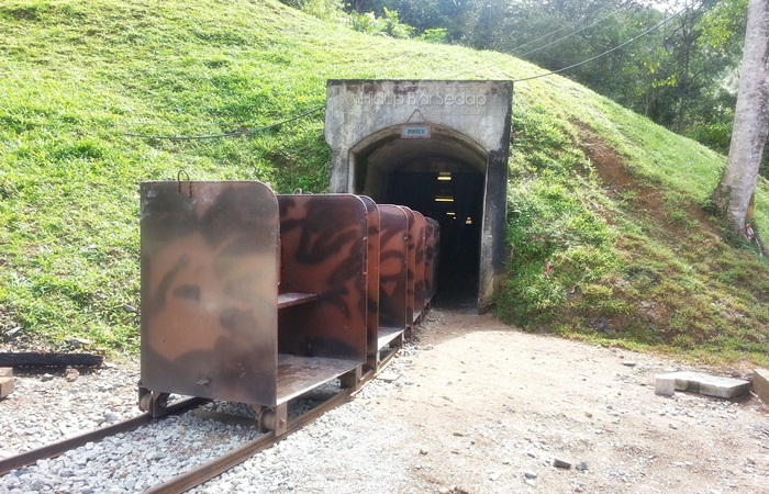 Ini adalah terowong bawah tanah lombong bijih timah sungai lembing