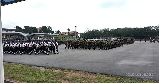 raptai perbarisan tamat latihan tentera darat