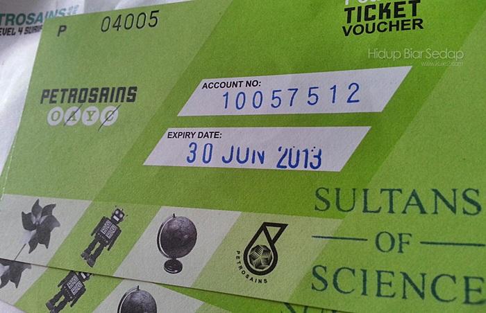 Pemenang Tiket Pameran Sultans of Science di Petrosains