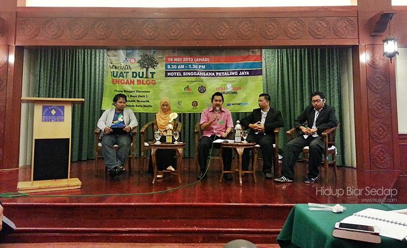 Ulasan Penuh Seminar Buat Duit Dengan Blog 2013
