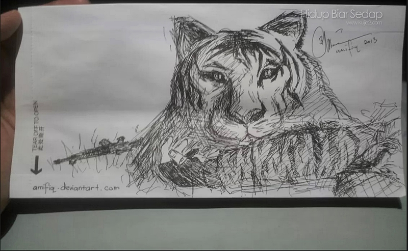 lukisan harimau
