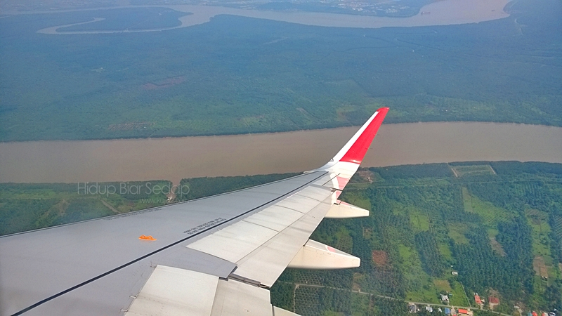 pemandangan dari udara bandar Kuching