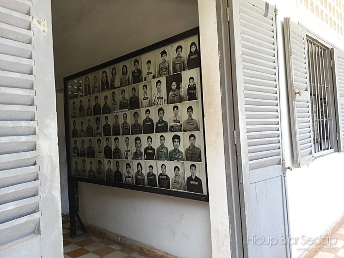 Photos of the victims of the Khmer Rouge