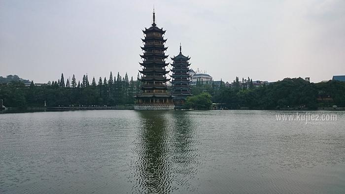 twin pagoda guilin